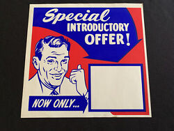 Vtg 50and039s Western Auto In Store Ad Paper Sign Manager Special Offer Blank 1