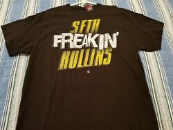 WWE SETH FREAKIN#x27; ROLLINS T SHIRT MENS LARGE NEW WITH TAGS