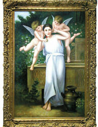"""4464 Oil On Canvas, """"youth,"""" William-adolphe Bouguereau, Reproduction"""