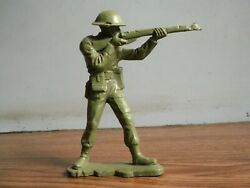 Rare Vintage Louis Marx And Co Ltd Wwii British Toy Soldier Made In Gt Britain.