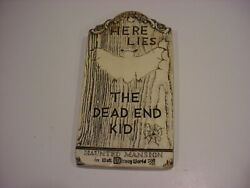 Rare 1970 Wdp Wdw Haunted Mansion Tombstone Plaque The Dead End Kid