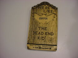 Rare 1970 Wdp Wdw Haunted Mansion Tombstone Plaque The Dead End Kid Coffin
