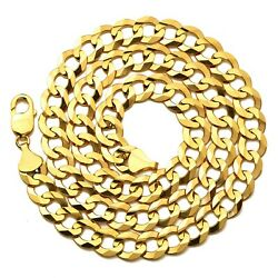 10k Yellow Gold 11mm Plain Solid Curb Cuban Necklace W/lobster Lock 18 To 30
