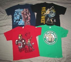 Wwe Smackdown Live And Wwe Raw John Cena Youth Xl Lot 4 Pc Wrestling T Shirts