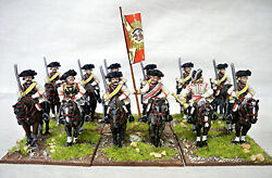 Seven Years War Prussian Cuirassiers Cavalry Regiment 28mm Front Rank Propainted
