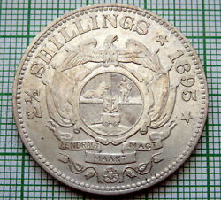 South Africa Zuid Afrikaansche Republiek 1895 2-1/2 Shillings Kruger Silver
