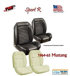 Sport R Seat Upholstery And Sport Foam F/r For 1964-65 Mustang Convertible, Usa