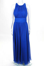 Badgley Mischka Collection Blue Corundum Sapphire Gown 790 Size 10489054