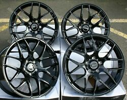 19 Black Radium Alloy Wheels Fits Bmw 8 Series E31 Coupe Old Skool Wider Rear