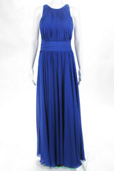 Badgley Mischka Collection Blue Corundum Sapphire Gown 790 Size 10 10416450