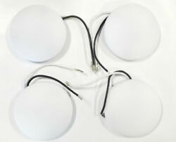 Flush Mount Interior Rv Led Lights - 3-1/4 Inch Round Without Switch- 4 Pack