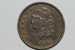 1834 About Uncirculated Condition Liberty Capped Half Dime Bhdx247