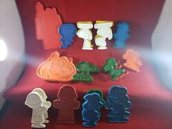 Vintage Snoopy Peanuts Character Cookie Cutters United Feature Syndicate