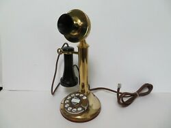 Antique Telephone Candlestick Western Electric Antique Telephone Working Brass