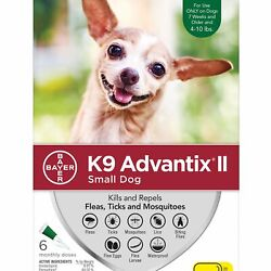 K9 Advantix II for Small Dogs 4 10 lbs 6 Pack FREE Shipping