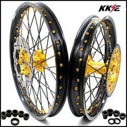 Kke 21/19 Mx Wheels For Yamaha Yz250f Yz450f 2016-2021 Front 270mm Discs Gold