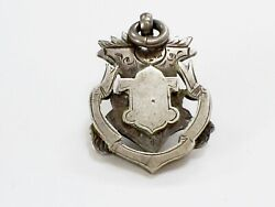 C19th Antique Victorian Hm Silver Pocket Watch Shield Shape Medal/fob 16.8 G