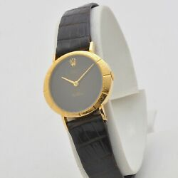 Rolex Cellini Lady 70s 18 Kt Gold 3879 Manual Serviced Rolex Strap And Buckle