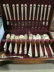 85 Pc. 1847 Rogers Bros Eternally Yours Silver Plated Set In Case