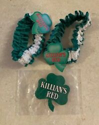 Lot Of 2 Killian's Red Old West Garter Belts Bands With Light Up Beer Pin