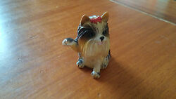 Figurine Vintage Dog «Yorkshire Terrier» Plastic Very Detailed