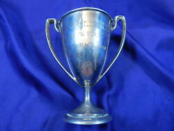 International C1756 Sterling Silver Small Loving Cup - Excellent Cond Mono M2