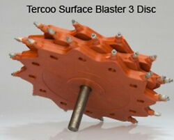 Tercoo Surface Blaster Tungsten Discs For Marine Canal Boat And Steel Surface Prep