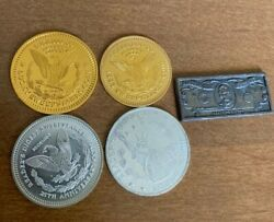 Vintage Readers Digest Sweepstakes Aluminum Coin Token Lot Of 5 150,000.00