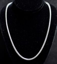 32.8 Grams 14k Solid White Gold Franco Necklace Chain 22 Inch Brand New