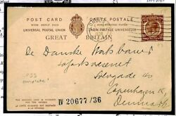 Gb Postal Stationery Intact Lloyds Register Shipping Reply Card Cp93 1936 E351
