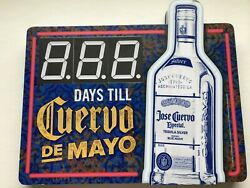 Cuervo De Mayo Countdown Lighted Tequila Bar Sign 19 X 22 Parts/repair Mancave
