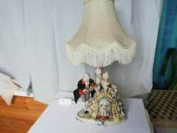 Vintage Wagner Apel Rococo Lovers Figurine Table Lamp