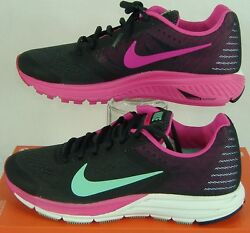 New Womens 11.5 Nike Zoom Structure 17 Charcoal Pink Run Shoes 115 615588-036