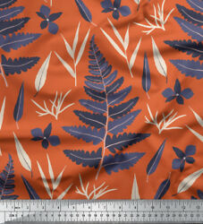 Soimoi Fabric Tansy Leaves Print Sewing Fabric Bty - Lf-660h