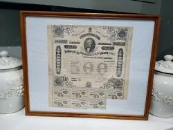 Civil War Confederate Bond Authorized By The Act Of Congress Of February 201863