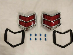 1940 Ford Deluxe Ltd Led Tail Lights Sedan Convertible Coupe Street Rod Lamps