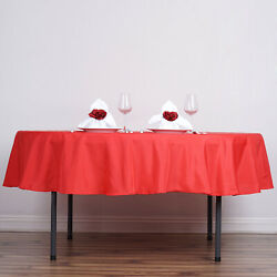 15 Red 90 Round Polyester Tablecloths Wedding Catering Restaurant Supplies