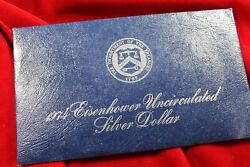 1974 Blue Pack 40 Silver Eisenhower Uncirculated Silver Dollar,