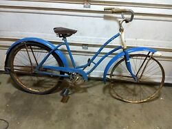 Vintage Hiawtha Bicycle, Old Antique Bike Project Rims Frame 26 Womans Girls