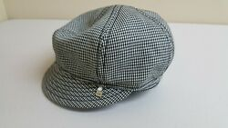 Coal Headwear Houndstooth Black White Newsboy Cap Hat Size Small Mens Womens