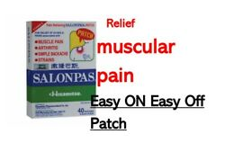 Salonpas 💯 Hisamitsu Pain Relieving Patch - Muscle Ache And Arthritis 40patches