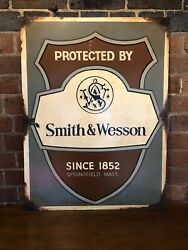 Smith And Wesson Dealers Sign. Stunning Vintage