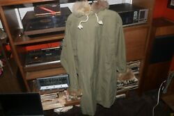 Early Wwii 10th Mtn 1st Ssf Ski Parka Reversible Fur Trimmed Hood + Cuffs Exc Co