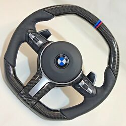 Bmw G11 G12 G30 G32 G01 G02 G05 Carbon Fiber And Leather Steering Wheel Complete
