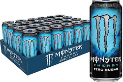 Monster Energy Zero Sugar Low Calorie Drink 16 Ounce Can Case/pack Of 24 Cans