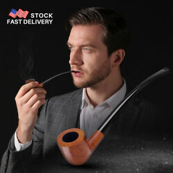 Italy Real 25 Year Old Dark Red Briar Wood Churchwarden Pipes Wooden Tube Pipes