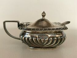 Antique Jay Richard Attenborough Sterling Silver Mustard Condiment And Kirk Spoon
