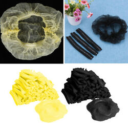 200bulk Disposable Cap Hair Net Dustproof Hats Head Cover Kitchen Factory