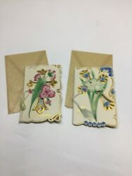 2 Antique Heavy Embossed Easter Greeting Cards Nos