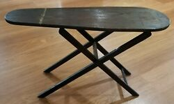 Antique Folding /adjustable Wooden Ironing Board 31 1/4×9 3/4 Rustic Primative